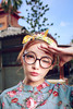 看到戴眼鏡的妳 (阿乃) Tags: canon 5d3 35l 人像 婚紗照 納涼屋