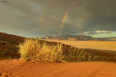 Elim Dune's view (clasch) Tags: namibia africa nikkor nikon d7000 landscape nature dune desert sand orange elim view sesriem sossusvlei national park rainbow 1224 mountain namib naukluft