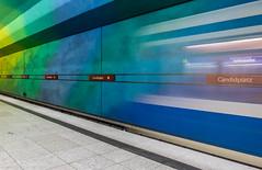 Incoming Train (katrin glaesmann) Tags: münchen munich tube station ubahn metro mvg candidplatz workshop u1 movingtrain 1997 architekturbüroegonkonrad sabinekoschier incomingtrain