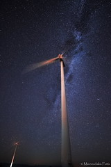 Wind energy turbines (Mavroudakis Fotis) Tags: electric fields milky over turbine wind moon scenic herbal landscape light flower panoramic astro milkyway field dark violet panorama purple cosmic plant astrophotography mill star universe agriculture astronomy galaxy meadow night background space cosmos nature greece power sustainability astrometrydotnet:id=nova2232449 astrometrydotnet:status=failed