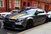 Mercedes-Benz C63S AMG (PFB-999) Tags: mercedesbenz mb merc c63s amg matte grey yellow arab dubai qatar registered car vehicle british uk hans rd road london harrods