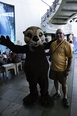 The Otter and I (Thad Zajdowicz) Tags: zajdowicz leica aquariumofthepacific longbeach california lightroom people otter critter humor