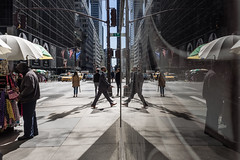 (AmirsCamera) Tags: newyork city nyc manhattan urban reflection glass building people walking travel tourist streetphotography street style walk colour color olympus omdem1 omd em1 april 2017