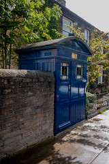 P1040612-1 Dr Who's Tardis (Lawrence Holmes.) Tags: lumix gf1 14mm police phone phonebox tardis drwho who dr bbc tv almondbury huddersfield westyorkshire uk lawrenceholmes
