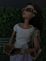 6. Eclipse Viewing (Foxy Belle) Tags: eclipse 2017 doll barbie glasses paper diy mattel made move solar sun