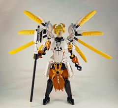 Overwatch - Mercy Front (0nuku) Tags: bionicle lego overwatch ow mercy angela zeigler support healer angel caduceus