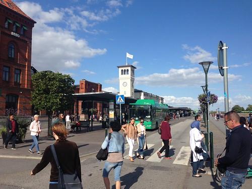 Outside Malmo Railway Station