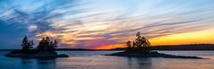Sunset (Me in ME) Tags: harpswell lookoutpointmaine sunset dusk sundown panorama