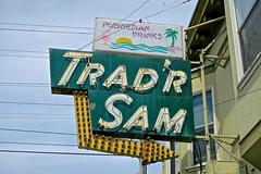 Trad'r Sam, San Francisco, CA (Robby Virus) Tags: sanfrancisco california sf ca neon sign signage arrow tradr sam bar tiki booze alcohol rum maitai