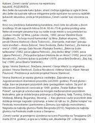 Vesna Stankovic (Balkan Novi Pokret) Tags: vesna stankovic glumica najbolja najuspesnija najsmesnija pobednik monodrama teatar beograd balkan novi pokret theatar actres jdp atelje narodno srbija pozoriste pozorisne veliki rat prvi svetski milunka savic vojska bdrama dramsko komedija kabare buha pozorista najlepsa zvezdara cimet vanila luza misic metra cezara ubi me kurje oko lina od kamena tvrdja