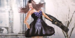 ♚ 384 ♚ (Luxury Dolls) Tags: magical maitreya magic pose purple bento black blog blogger yokai dress roses tableauvivant tableauvivantsl zenith cello case shot pic photo morningglow land lelutka l8 limit8 whimsical moment