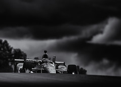 Over the hills and far far away (speedcenter2001) Tags: 12 dallarachevrolet willpower indycar race racing racecar racetrack motorsports monoposto blackandwhite sep2 silverefexpro2 nik 400mmf28gvr nikon400mmf28gvr d500 roadamerica roadcourse roadracing elkhartlake elkhart wisconsin clouds dark penske teampenske verizon noiretblanc schwarzweiss