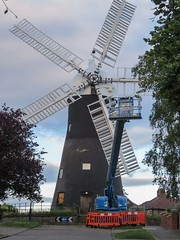 Holgate Windmill repainting, June 2017 - 1