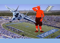 Mutant Monte at the Air Force football game 8 24 2017 TWO (Monte Mendoza) Tags: montemendoza mutant mutation dna giant airforce airplane jet thunderbirds usairforce ua armpit underarm axila shirtless sincamisa noshirt football falcon