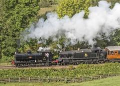7144 & 5199 Green End 30-09-17 (prof@worthvalley) Tags: all types transport steam locomotive railway railroad uk nymr 7144 5199