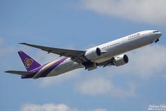 Thai Airways International --- Boeing 777-300ER ---  HS-TKO (Drinu C) Tags: adrianciliaphotography sony dsc rx10iii rx10 mk3 fra eddf plane aircraft aviation 777 thaiairwaysinternational thai boeing 777300er hstko