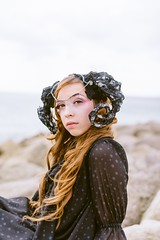 Shinkurose Beach Shoot (emilyvalentinephotography) Tags: beach bournemouth dorset sandbanks poole seaside sea dramatic model photoshoot nikon d750 cloudy atmospheric nature shinkurose japanese fashion jfashion lolita beauty handmade