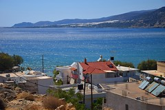 summer moods (JoannaRB2009) Tags: summer mood nature blue sea water mediterranean hills island landscape seascape sky view town building architecture house beach paleochora crete kriti kreta greece greek