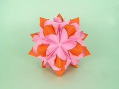 Kira (masha_losk) Tags: kusudama кусудама origamiwork origamiart foliage origami paper paperfolding modularorigami unitorigami модульноеоригами оригами бумага folded symmetry design handmade art