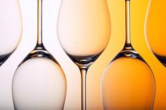 Repetitive (*Chris van Dolleweerd*) Tags: glass wine wineglass yellow drink empty studio strobist closeup chrisvandolleweerd reflection stilllife series