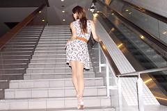 Sleeveless Dress (Light Blue)_10 (Kyoko Matsushita) Tags: 松下恭子 パンスト 脚 フェチ fétiche fetisch fetish фетиш tgirl crossdresser crossdressing transvestite cd tv minidress pantyhose stockings nylon strumpfhose collant колготки jambes beine legs asian kyoko matsushita