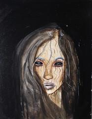It's a Disorder Not a Decision (Silje Roos) Tags: art arts arte acrylics acryl acrylic acrylicpainting acrylicpaint acrylicart face photo photography canon photos photographys artist black eyes lips tumblr style blackhair blackeyes hair hairstyle hairstyles