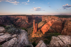 Spider Rock - Canyon de Chelly (jeffreyabong) Tags: arizona mountains navajo landscape az sunset