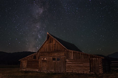 Milky Way over Moulton Barn (HubbleColor {Zolt}) Tags: mormonrow night grandtetonnationalpark milkyway moultonbarn sky wyoming