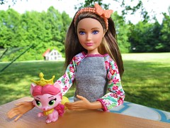 Come here kitty 🐈 (flores272) Tags: barbieandhersistersinthegreatpuppyadventure royalfriendscollection barbie barbiesister skipperdoll outdoors doll dolls toy toys disneyprincesspalaceminipets disneypalacepets disney