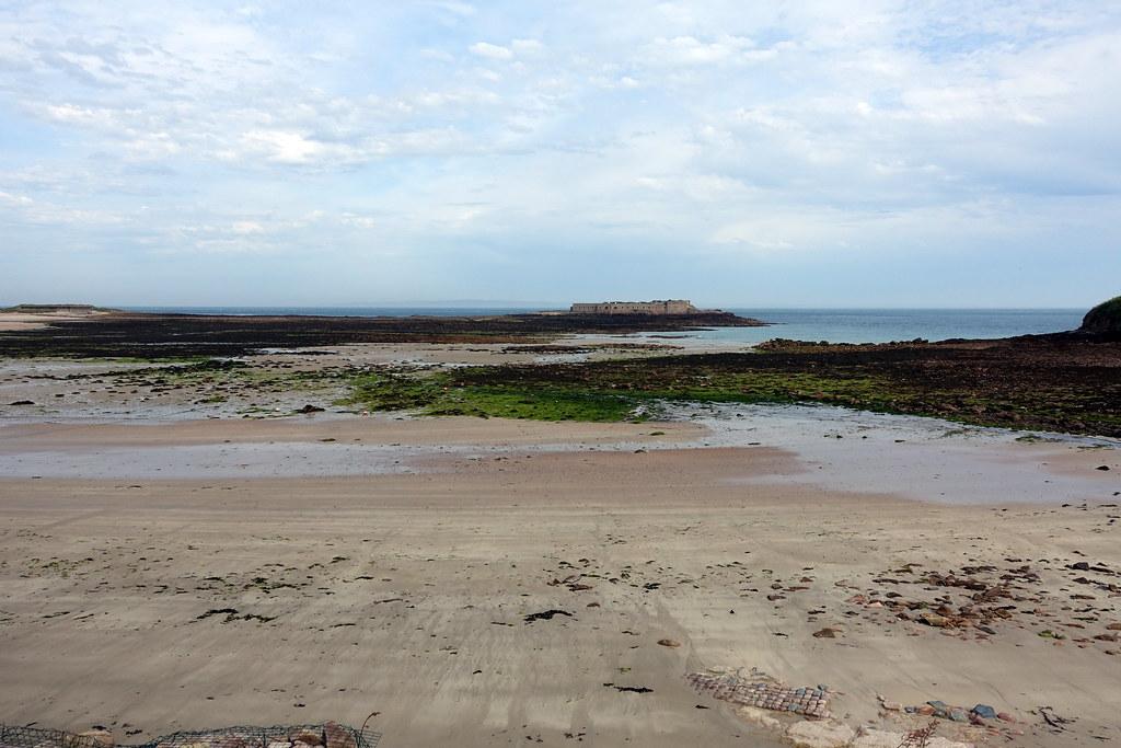 Longis Beach and Fort Ile de Raz, Alderney