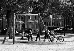 Amsterdam Playground (thedailyjaw) Tags: amsterdam playground children child swings swing playset d610 nikon 85mm netherlands holland travel europe stroopwaffle blackwhite bw digital blackandwhite