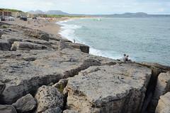 Plage de Pals, vue du sud (RarOiseau) Tags: espagne catalogne pals plage rocher sable mer eu