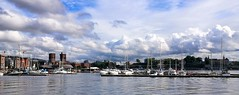 Oslo, Norway (evakongshavn) Tags: oslo oslofjord visitoslo visitnorway norge norway tourist turistiegenby urbanlife urbanphotography urban streetview streets street water waterscape sky boat city sea tree building bay