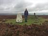 36 of 52 trig points (Ron Layters) Tags: 2017 ronlayters selfportrait 52trigpoints moor heather cairn dragon moorland clouds badweather cairnthedragon hills landscape revidge trigpoint pillar tp5641 fbs4171 peakdistrict peakdistrictnationalpark warslow staffordshire england unitedkingdom 52weeks 52 phonecamera iphone apple appleiphone6 selftimer tripod 10secondtimer weekthirtysix week36 36