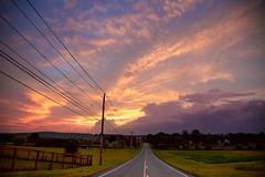 Ramblin' (kirstenscamera) Tags: road upstate newyork home sky sunset brownbarnfarms newhampton pineisland goshen ny hudsonvalley path evening night landscape summer 2017 clouds nikon d810