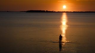 sunset - laguna dello stagnone di Birgi - Italy