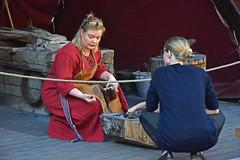 Viking smithy (L. Charnes) Tags: stockholm historiskamuseet museum history viking blacksmith livinghistory