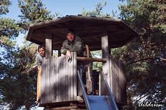 Los chicos en la caseta (Aildrien) Tags: gabi oroel pyrenees gabriel lovely outdoor nature trekking son parque park juegos children alejandro love
