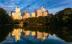 Good morning Atlanta (ArmyJacket) Tags: atlanta georgia midtown piedmontpark skyline skyscraper sunrise sky outdoor
