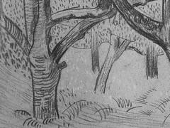 SERUSIER Paul - Le Verger (Louvre RF40965-Recto) - Detail 05 (L'art au présent) Tags: details détail détails detalles drawings dessins croquis étude study studies sketch sketches dessins19e 19thcenturydrawings dessinfrançais frenchdrawings peintresfrançais frenchpainters louvre paris france musée museum arbres tree trees trunk orchard grove nature