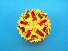 С Днем Рождения, Володя !!! (masha_losk) Tags: kusudama кусудама origamiwork origamiart foliage origami paper paperfolding modularorigami unitorigami модульноеоригами оригами бумага folded symmetry design handmade art