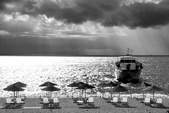 The next Day (plot19) Tags: next day skala kefalonia greece sunrise morning blackwhite boat ship landscape light plot19 photography mood nikon