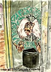 Barcelone - street art (croquisdenico) Tags: streetart sketchbook sketch croquis carnetdevoyage carnet feltpen watercolor aquarelle barcelone barcelona