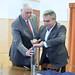 Aradszki András, a térség kereszténydemokrata országgyűlési képviselője és Elek Sándor (Fidesz-KDNP), a Pest megyei város polgármestere letette Törökbálint új városközpontjának alapkövét