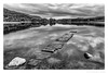 Paving the Way (don't count the pixels) Tags: red scotland blackandwhite monochrome silverefexpro water lake loch rain wet lochard trossachs trossachsnationalpark reflection stones sky ngc