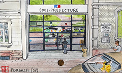 La France des Sous-Préfectures 57 (chando*) Tags: aquarelle watercolor croquis sketch france googlestreetviewcar