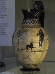 """The Cypria Poem – Achille's Upbringing (egisto.sani) Tags: britishmuseum londra vasi """"painter london b 620"""" kheiron chiron chirone achilles achille cypria """"attic ceramic"""" pottery"""" """"ceramica attica"""" vulci etruria lazio british museum vase vaso b620 blackfigure figurenere"""