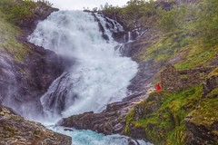 Power and Grace of the  Kjosfossen waterfall (mtm2935) Tags: myrdal flamrailway scenicnorway landscapeshot landscapes flam waterfalls sognogfjordane norway