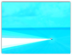 SAW BOAT IT BLURRED MY VISION (Visual Images1 (Thanks for 4 million views)) Tags: hss slidersunday blue boat blurred