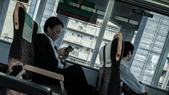 Commuting (AAcerbo) Tags: osaka japan japanese asian asia train subway commuting city urban life iphone iphoneography